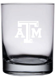 Texas A&M Aggies 14oz Etched Rock Glass