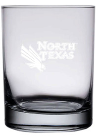North Texas Mean Green 14oz Etched Rock Glass