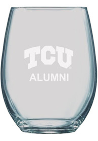 TCU Horned Frogs 21oz Etched Stemless Wine Glass