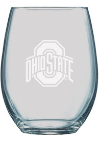 Ohio State Buckeyes 21oz Etched Stemless Wine Glass
