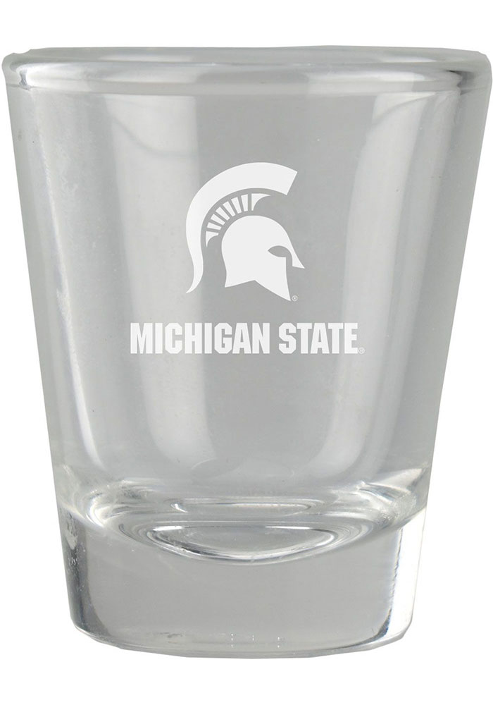 Michigan State Spartans 2oz Etched Shot Glass - Image 1