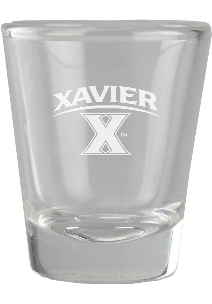 Xavier Musketeers 2oz Etched Shot Glass - Image 1