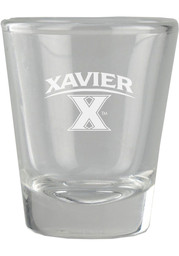 Xavier Musketeers 2oz Etched Shot Glass