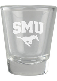 SMU Mustangs 2oz Etched Shot Glass
