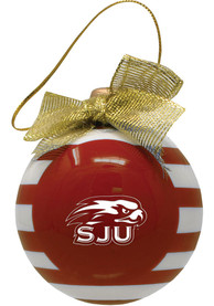 Saint Josephs Hawks Ceramic Bulb Ornament