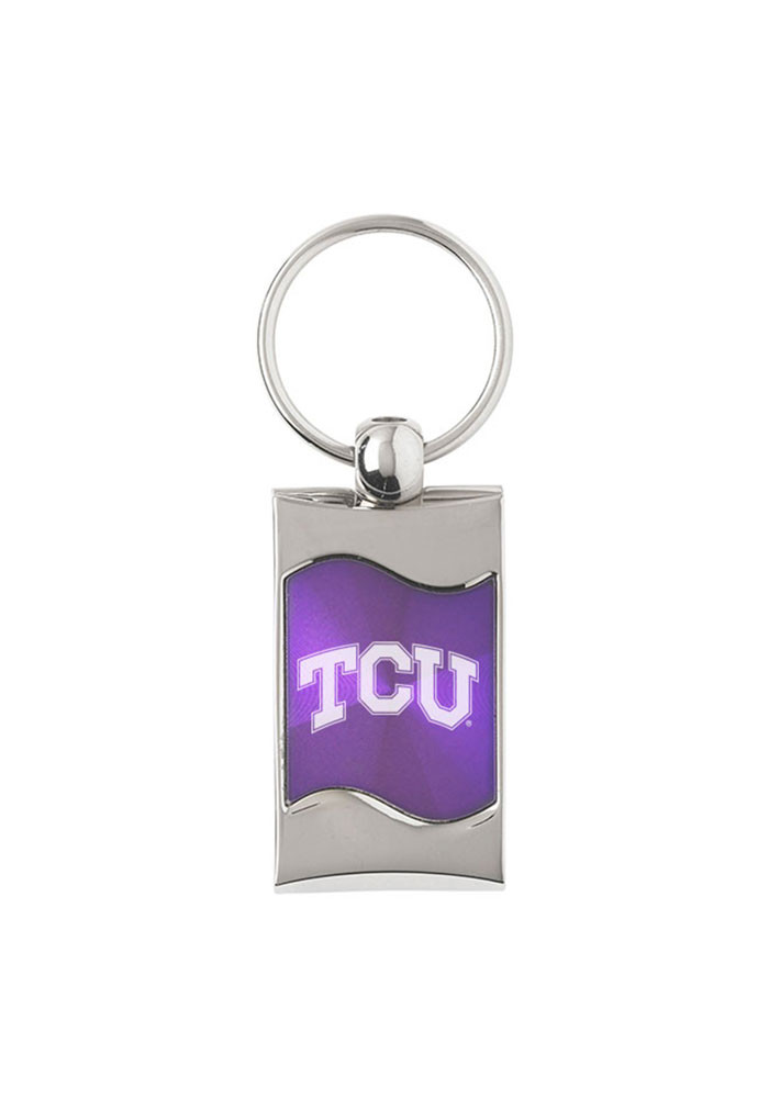 TCU Horned Frogs Purple Wave Keychain - Image 1