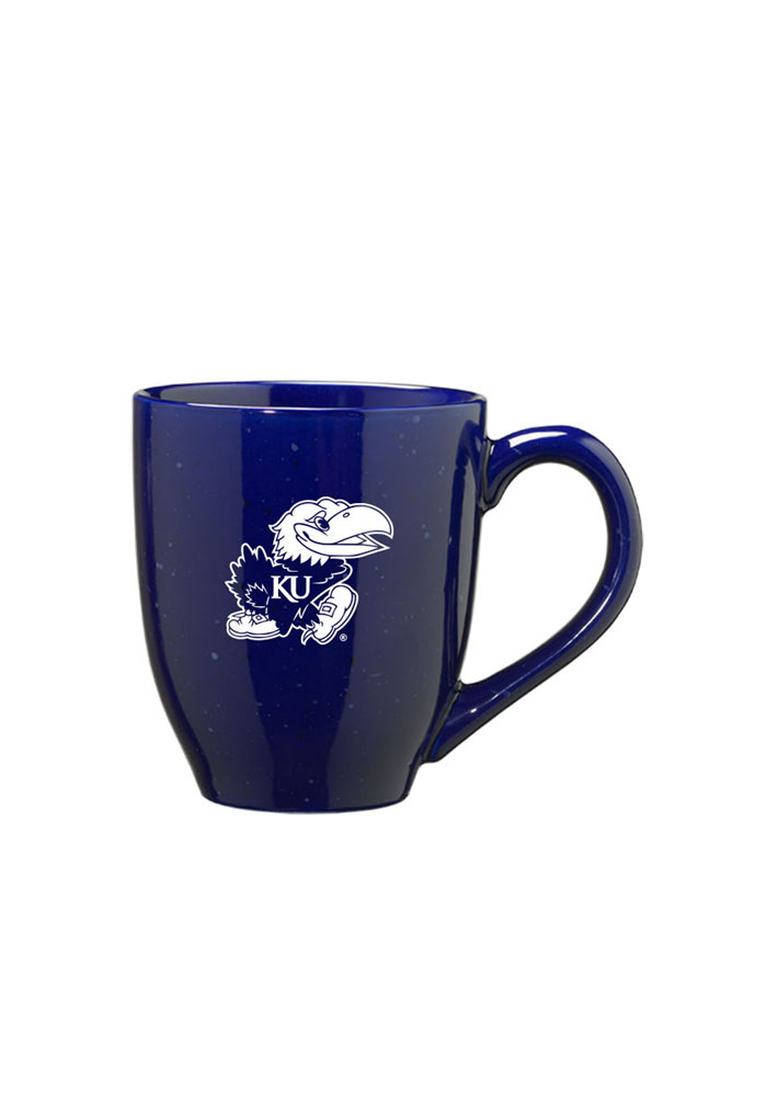 Kansas Jayhawks Blue 16oz Speckled Mug - Image 1