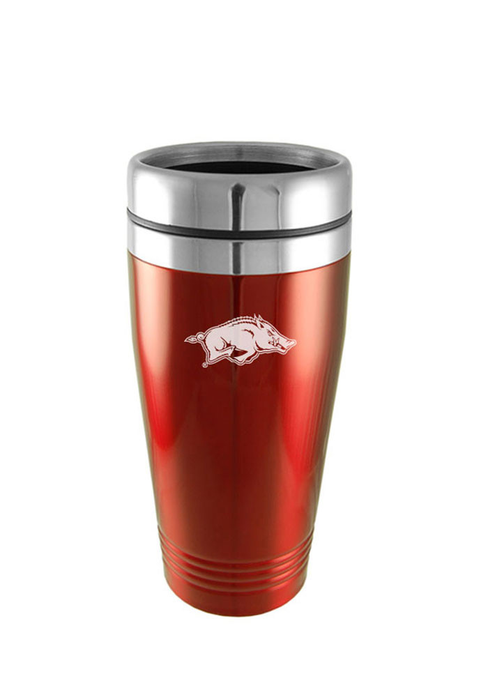 Arkansas Razorbacks 16oz Stainless Steel Travel Mug - Image 1