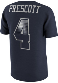 Dak Prescott Dallas Cowboys Navy Blue Name and Number Player Tee