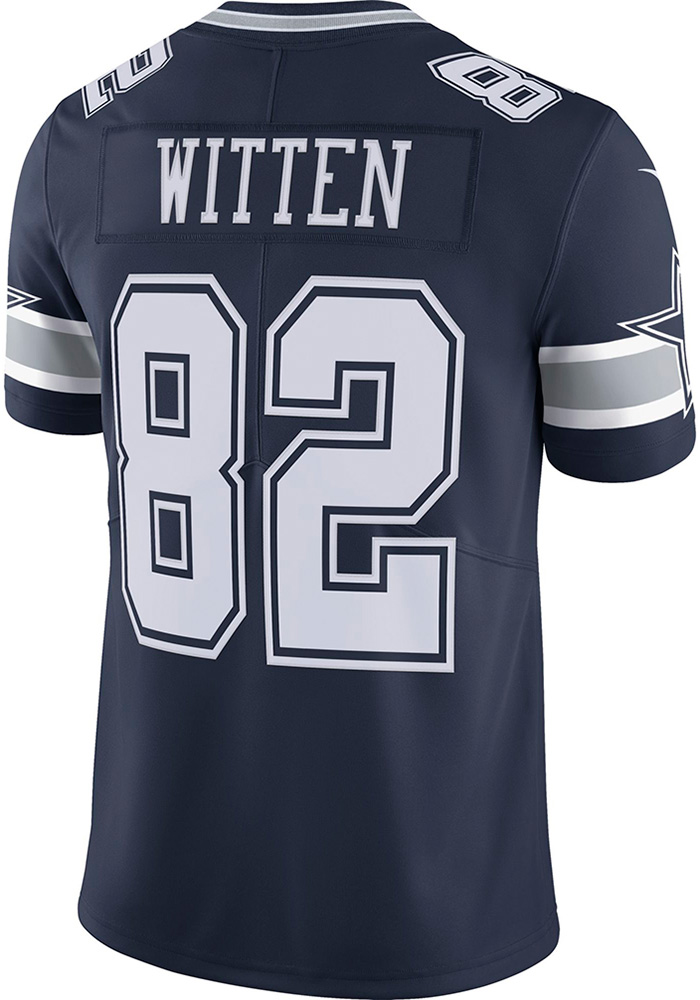 Jason Witten Dallas Cowboys Mens Navy Blue tackle twill Limited Football Jersey - Image 1