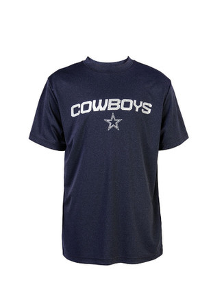 Cowboys Youth Navy Blue Youth Hudson Performance T-Shirt