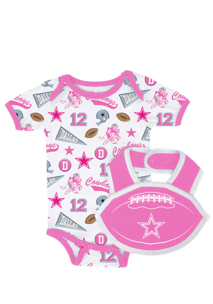 Dallas Cowboys Baby Pink Infant Humble Bib Set Set Creeper 41020506