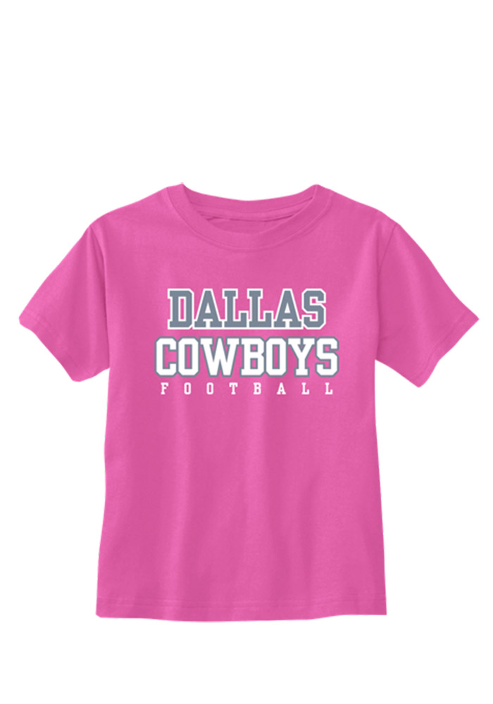 Dallas Cowboys Infant Girls Infant Logo Practice Short Sleeve T-Shirt Pink - Image 1