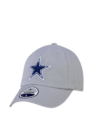 Cowboys Mens Grey Star Legend Fitted Hat