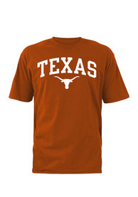 best service 31b73 a3629 Texas Longhorns Burnt Orange Arch Mascot Tee
