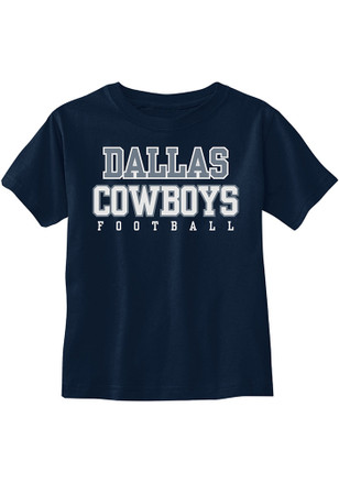 Dallas Cowboys Navy Blue Practice Short Sleeve T-Shirt