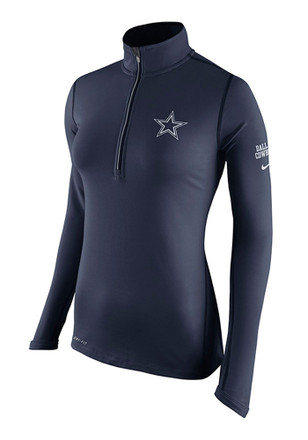 Dallas Cowboys Womens Tailgate Element Navy Blue 1/4 Zip Pullover