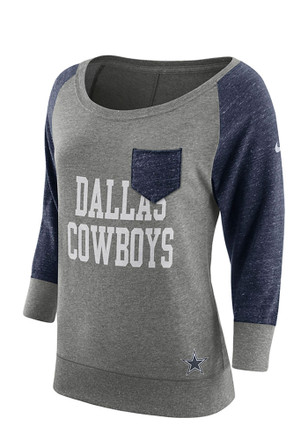 Cowboys Womens Tailgate Element Grey T-Shirt