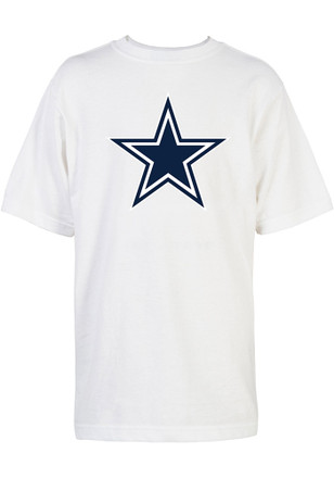 Dallas Cowboys Kids White Logo T-Shirt