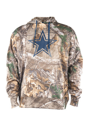 Cowboys Mens Green Ridgeline Fashion Hood