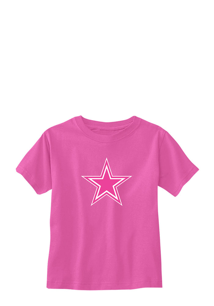 Dallas Cowboys Toddler Pink Premier Short Sleeve T-Shirt - Image 1