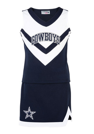 Dallas Cowboys Toddler Girls Navy Blue DCC Cheer