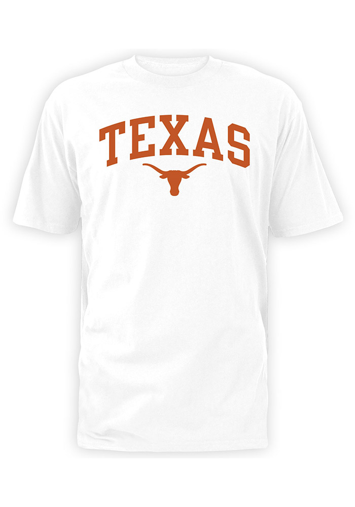 Texas Longhorns White Arch Short Sleeve T Shirt - Image 1