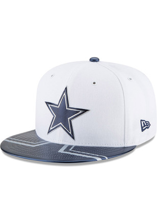 Dallas Cowboys Mens White 2017 Official On-Stage 59FIFTY Fitted Hat