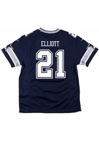 Ezekiel Elliott Dallas Cowboys Youth Nike Away Football Jersey - Navy Blue