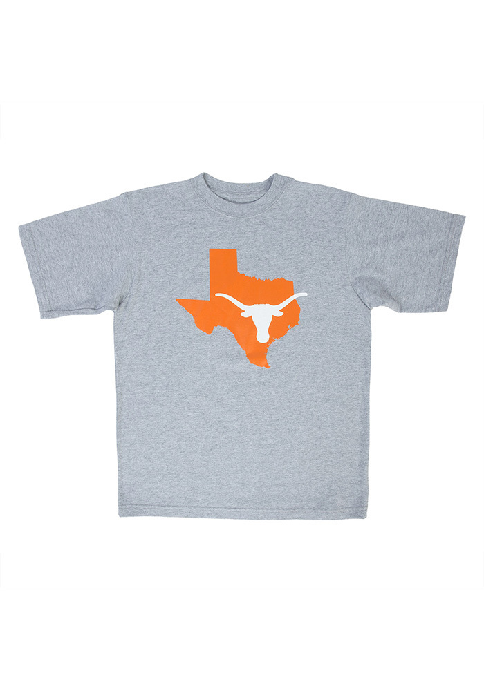 Texas Longhorns Youth Grey Longhorn State Short Sleeve T-Shirt - Image 1