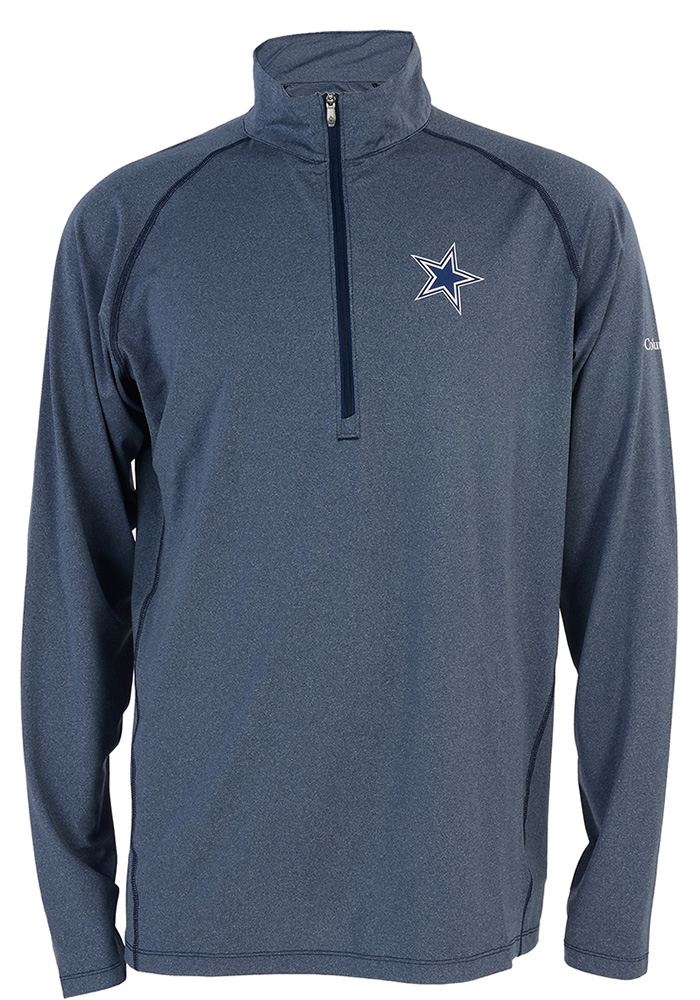 Dallas Cowboys Mens Navy Blue Tuk Mountain Long Sleeve 1/4 Zip Pullover - Image 1