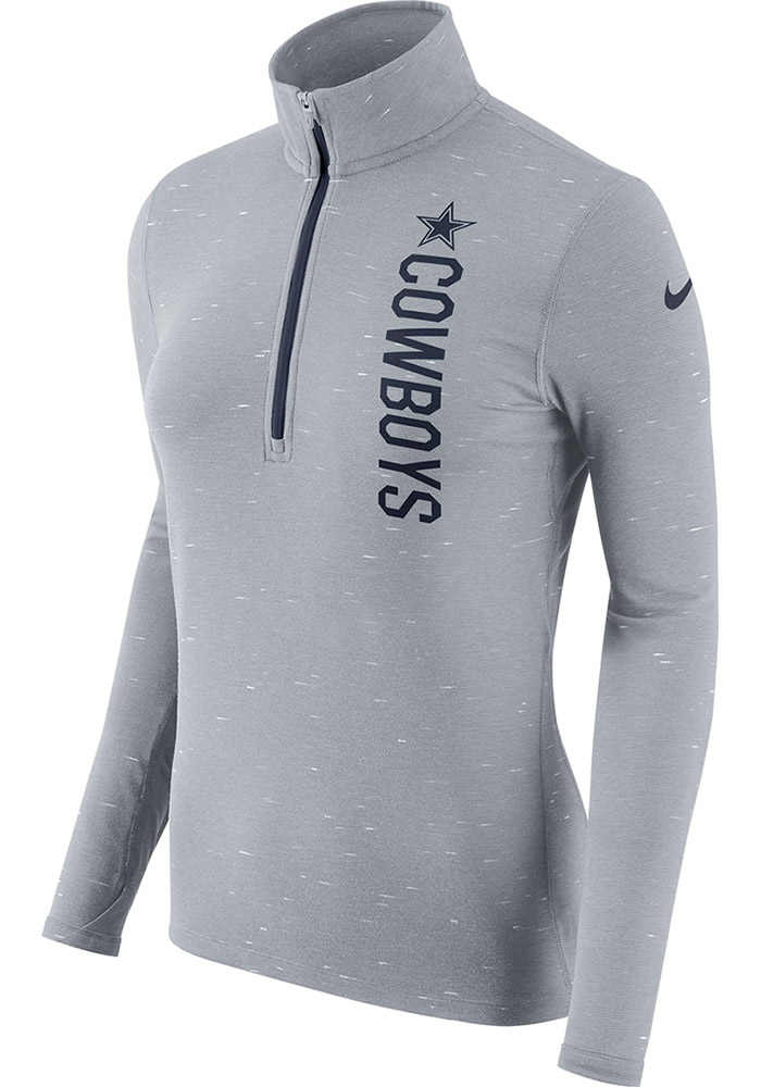 Nike Cowboys Womens Grey Element 1/4 Zip Pullover - Image 1