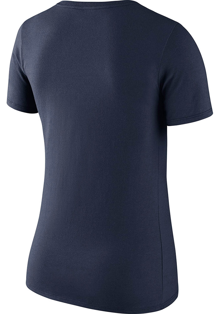 Dallas Cowboys Womens Navy Blue Primary Logo Scoop T-Shirt - Image 2