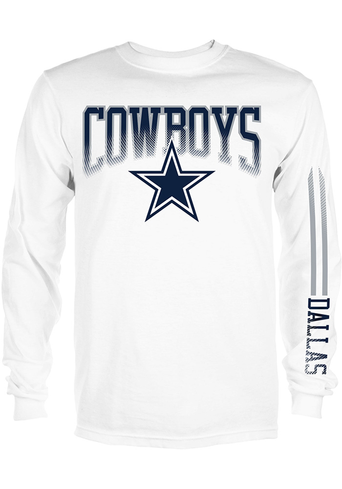 low priced 70157 a04a6 Dallas Cowboys White Mack Long Sleeve T Shirt