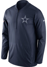 Dallas Cowboys Navy Blue Lockdown 1/4 Zip Pullover