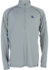 Dallas Cowboys Tuk Mountain 1/4 Zip Pullover - Grey
