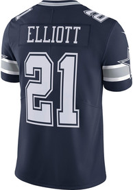 Ezekiel Elliott Dallas Cowboys Nike Road Limited Football Jersey - Navy Blue