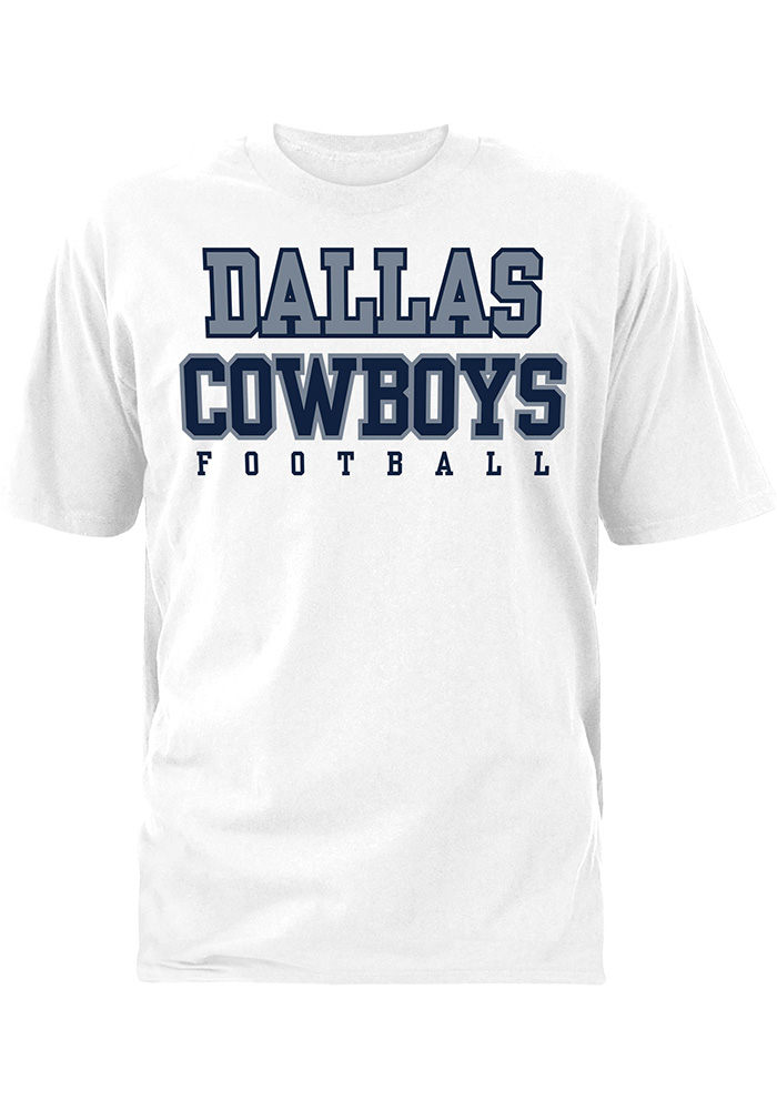 Dallas Cowboys White Practice Short Sleeve T Shirt - Image 1