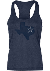 Dallas Cowboys Womens Lone State Tank Top - Navy Blue