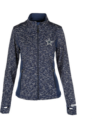 Dallas Cowboys Womens Navy Blue Play Off Light Weight Jacket