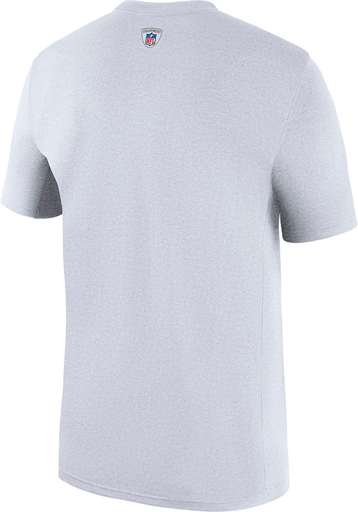 Dallas Cowboys White Staff Legend Short Sleeve T Shirt - Image 2