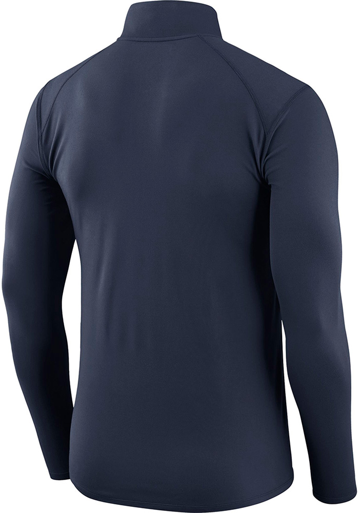 Dallas Cowboys Mens Navy Blue Dry Element Long Sleeve 1/4 Zip Pullover - Image 2