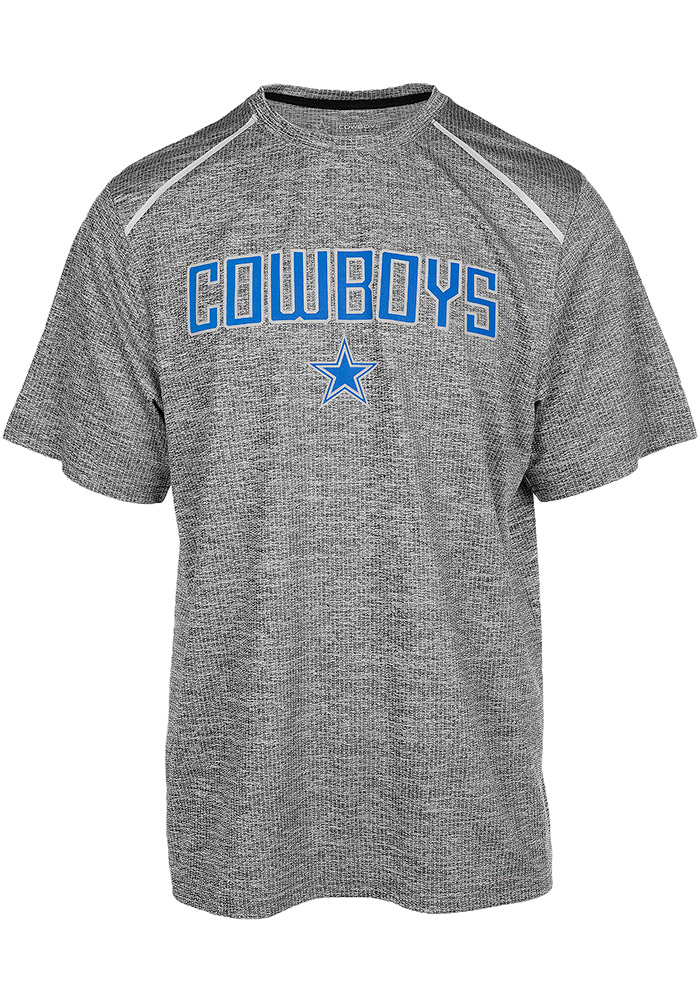 Dallas Cowboys Grey Witt Shock Short Sleeve T Shirt - Image 1
