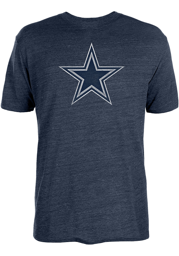 Dallas Cowboys Navy Blue Worn Premier Short Sleeve Fashion T Shirt - Image 1