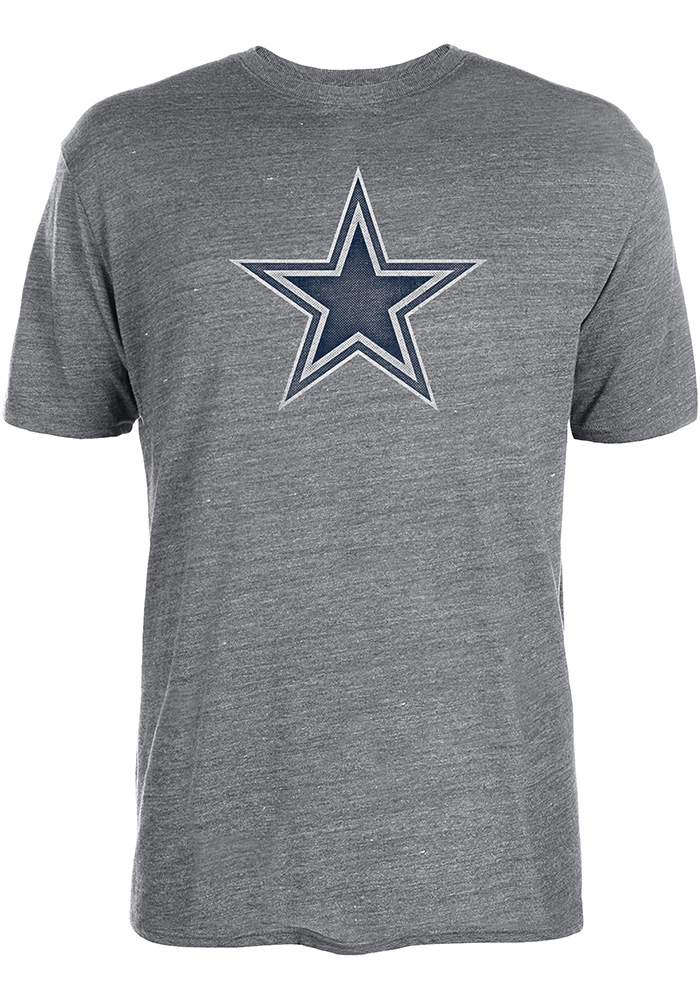 Dallas Cowboys Grey Worn Premier Short Sleeve Fashion T Shirt - Image 1