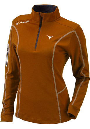 Texas Longhorns Womens Shotgun Orange 1/4 Zip Pullover