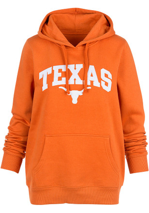 Texas Longhorns Womens Orange Arch Hoodie