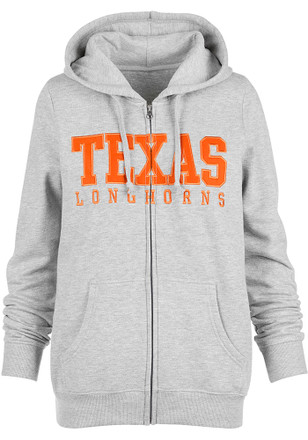 Texas Longhorns Womens Grey Campus Classic Full Zip Jacket