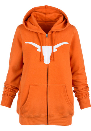Texas Longhorns Womens Orange Silhouette Full Zip Jacket