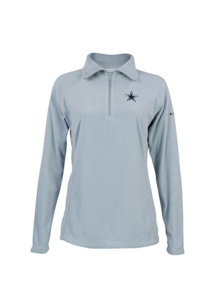 Dallas Cowboys Womens Glacial Fleece Grey 1/4 Zip Pullover